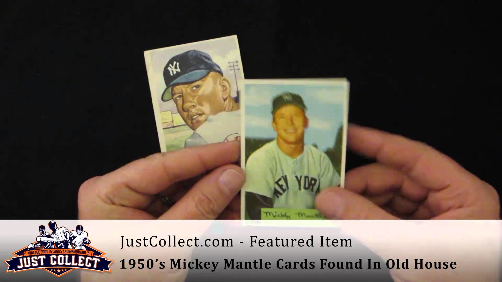 1952 Topps Mickey Mantle Rookie Discovered In Old House In Connecticut