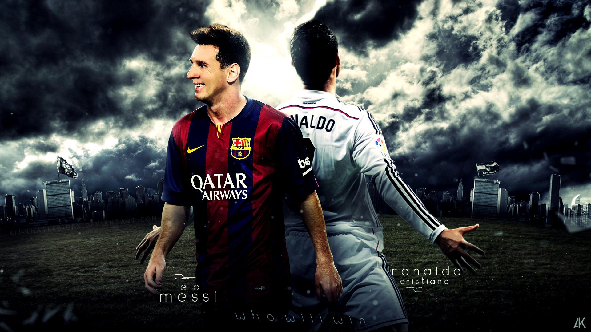 Cristiano Ronaldo Vs Lionel Messi 2017 Wallpapers 15