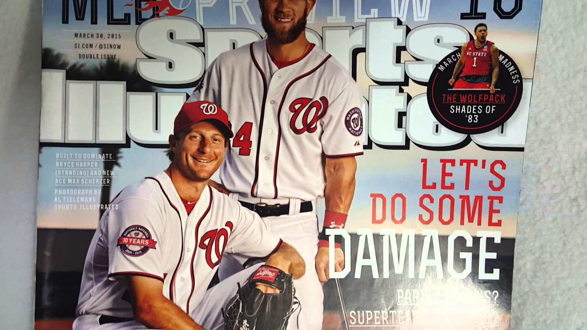 Sports Illustrated Magazine March 30 2015 Bryce Harper & Max Scherzer on  cover
