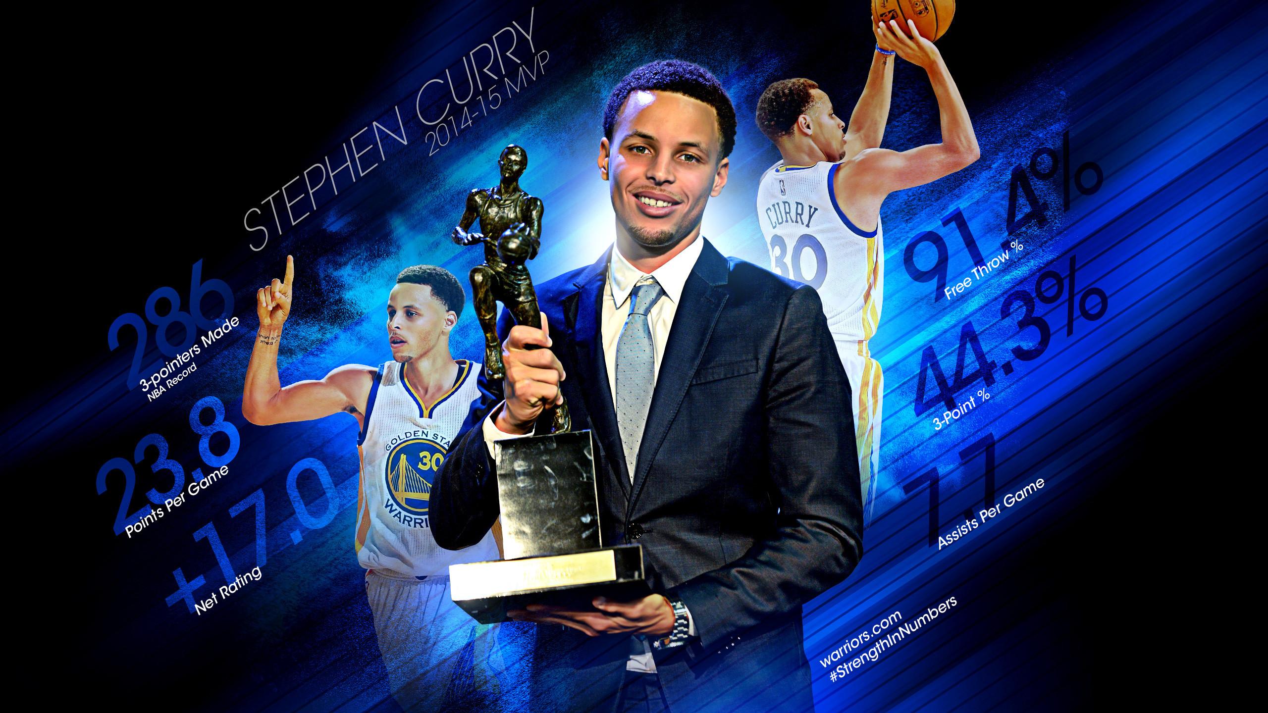 Stephen Curry 2015 MVP 2560×1440