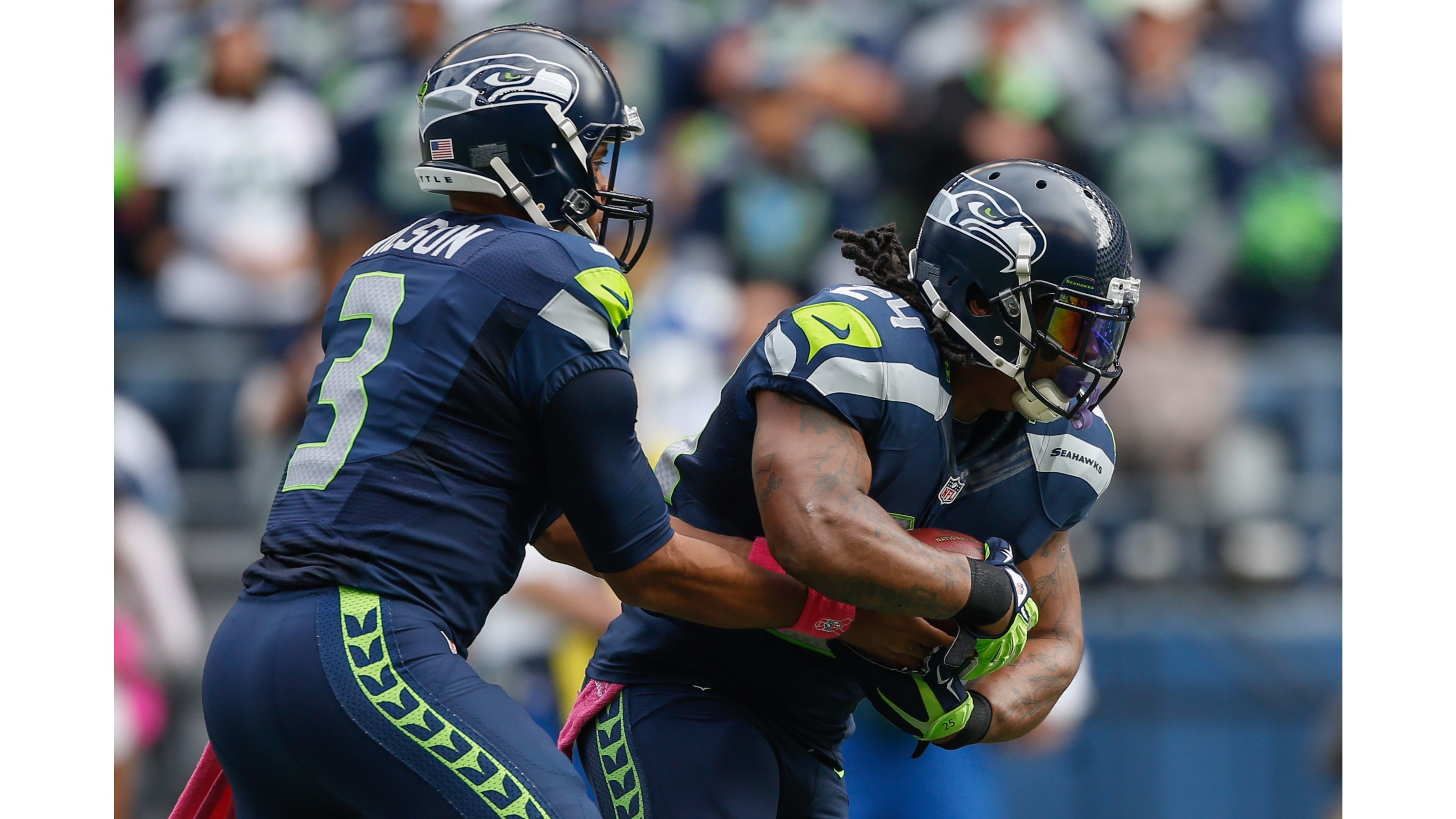 Marshawn Lynch and 2016 Russell Wilson 4K Wallpapers