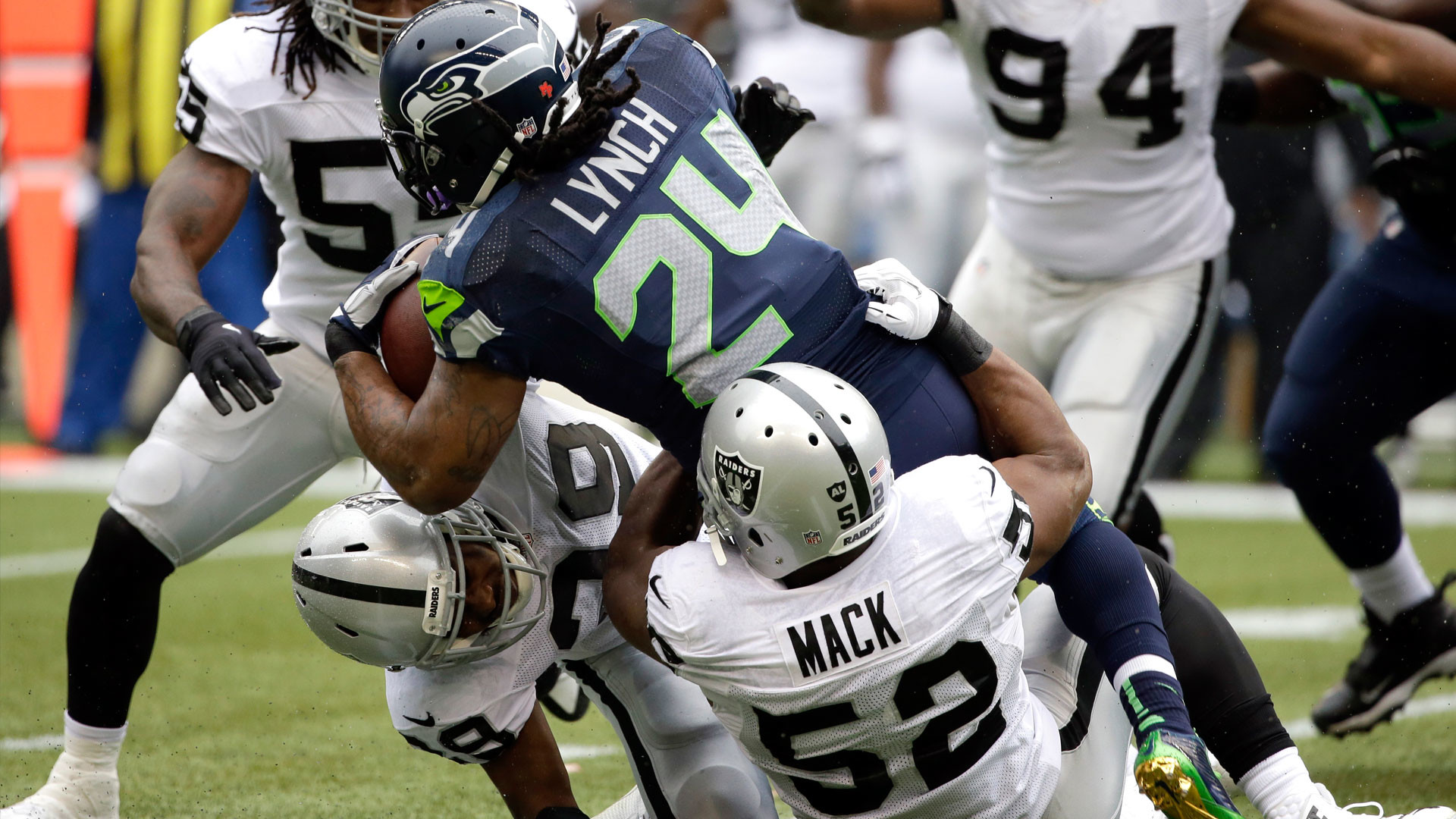 Raiders excited that Marshawn Lynch could join 'the dark side' | NBCS Bay  Area