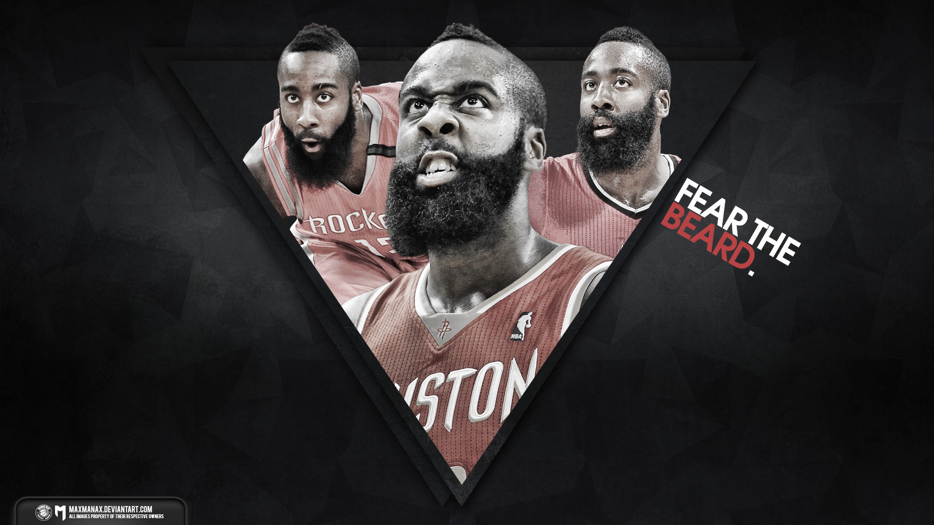 James Harden Contract Extension : James harden fear the beard poster