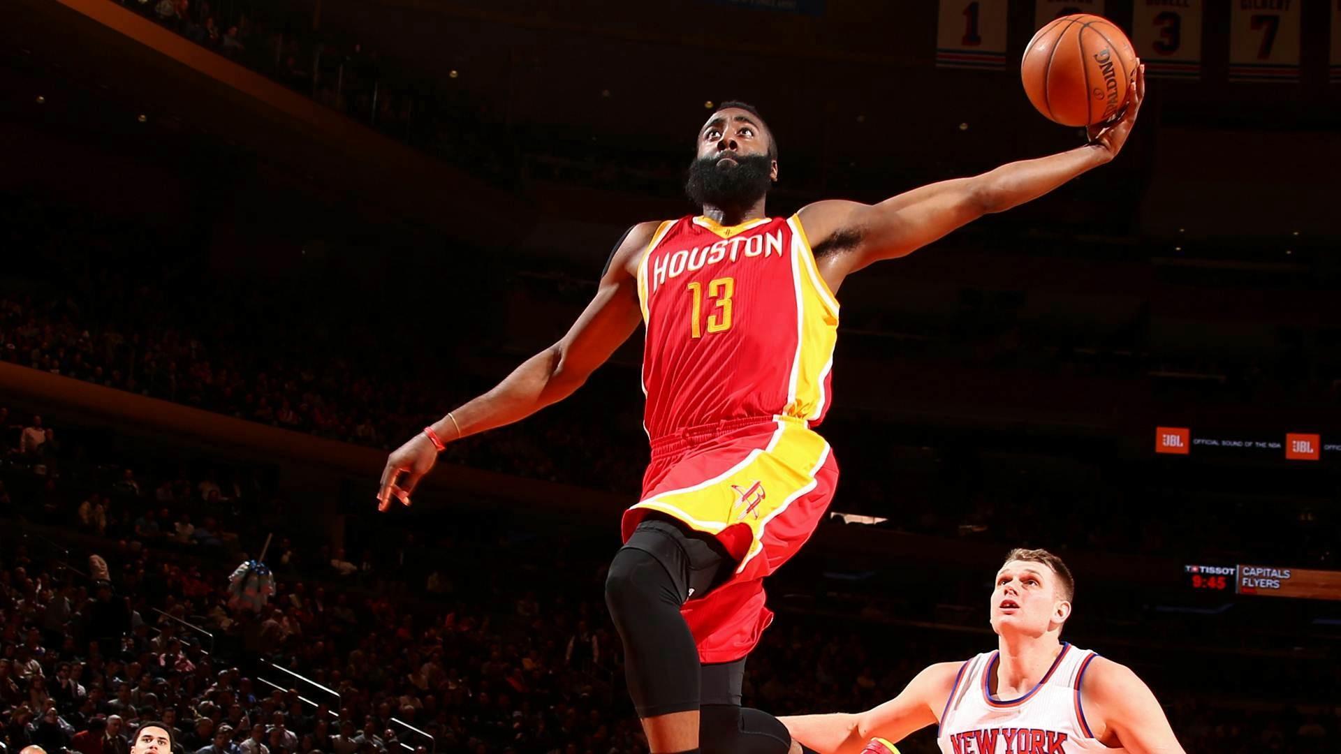 NEW YORK, NY – JANUARY 8: James Harden #13 of the Houston Rockets