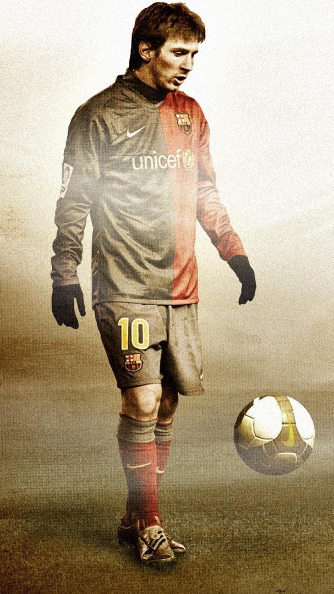 Lionel Messi FC Barcelona Grunge Texture iPhone 6 Plus