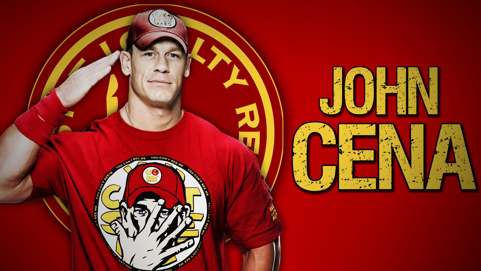 John Cena Red Tshirt Wallpaper