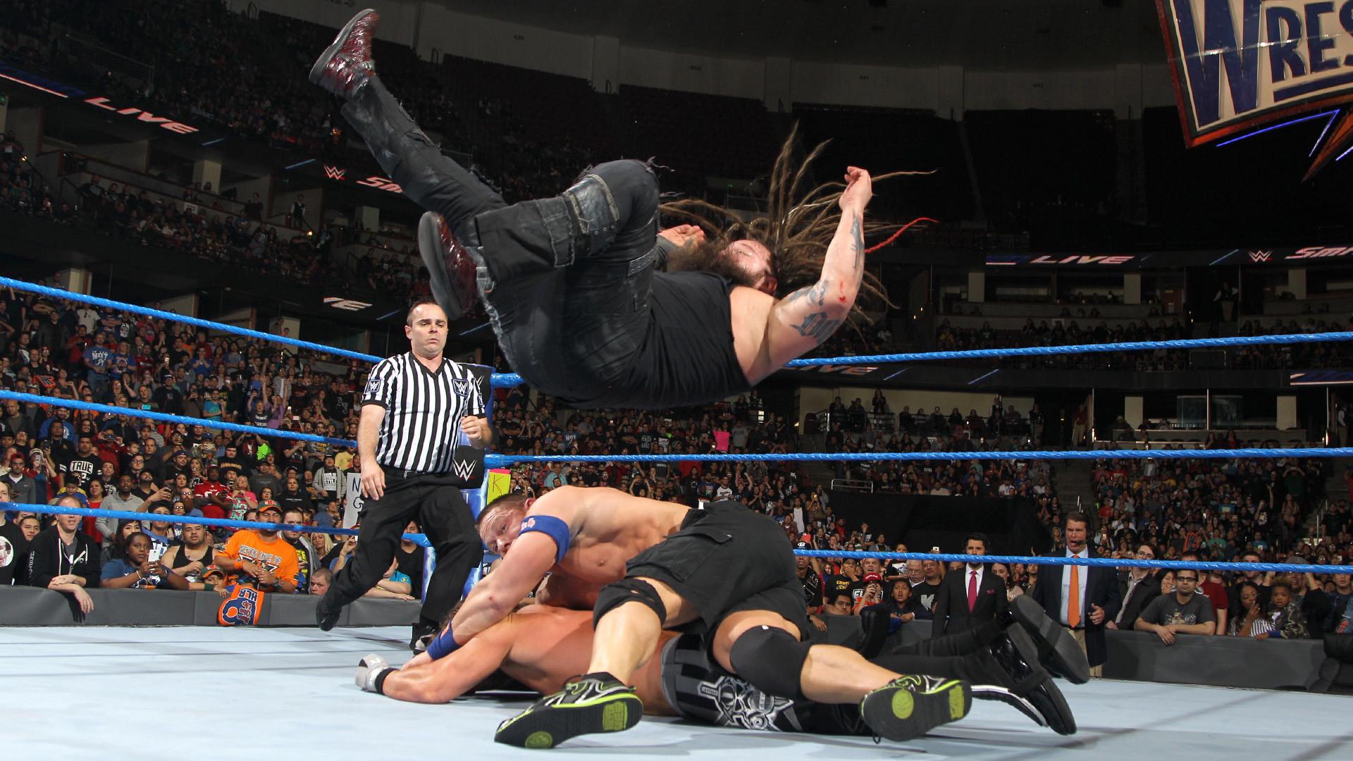 John Cena vs. Bray Wyatt vs. AJ Styles – WWE Championship Triple Threat  Match: SmackDown LIVE, Feb. 14, 2017 | WWE