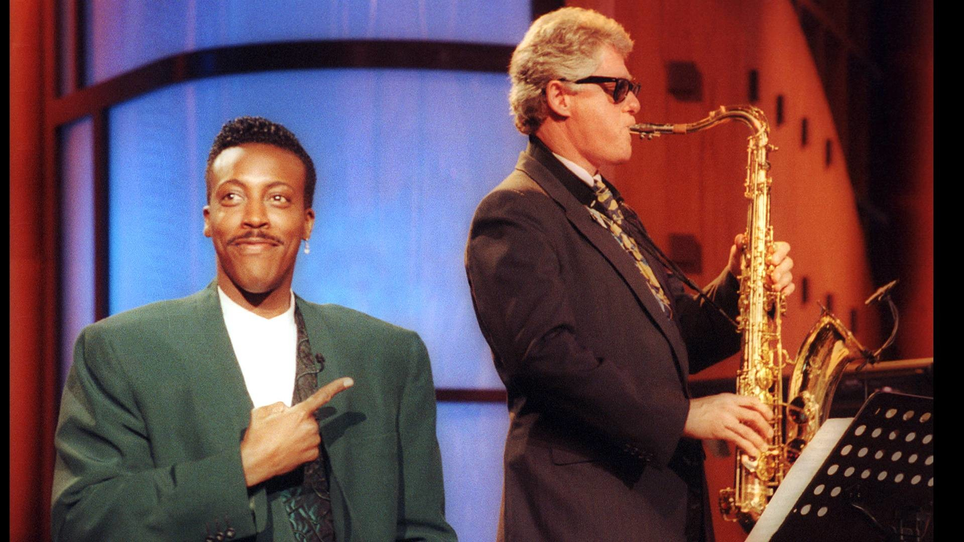 Bill Clinton playing the sax on the Arsenio Hall show (1992) …