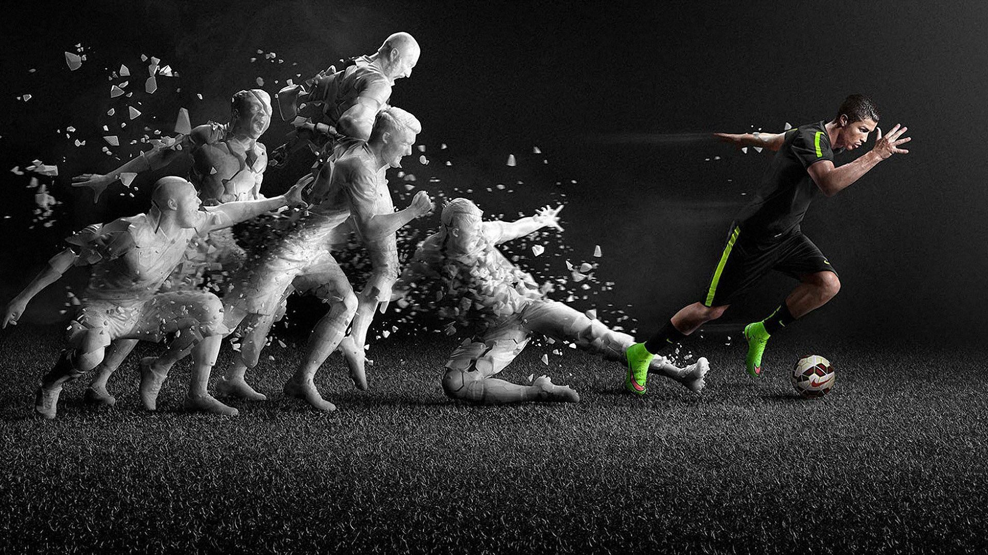 Cristiano Ronaldo Nike Mercurial Superfly Electric Green Boots .
