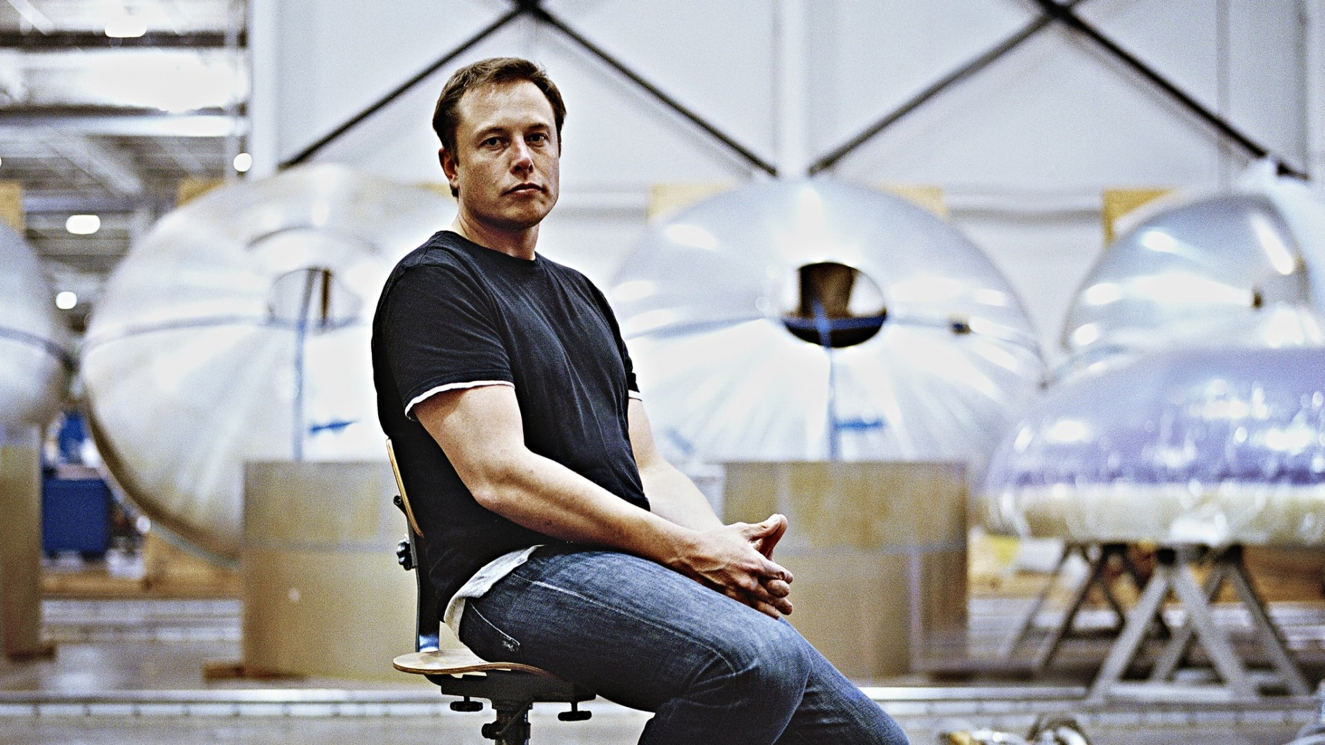 Preview wallpaper elon musk, spacex, boca chica village 1920×1080