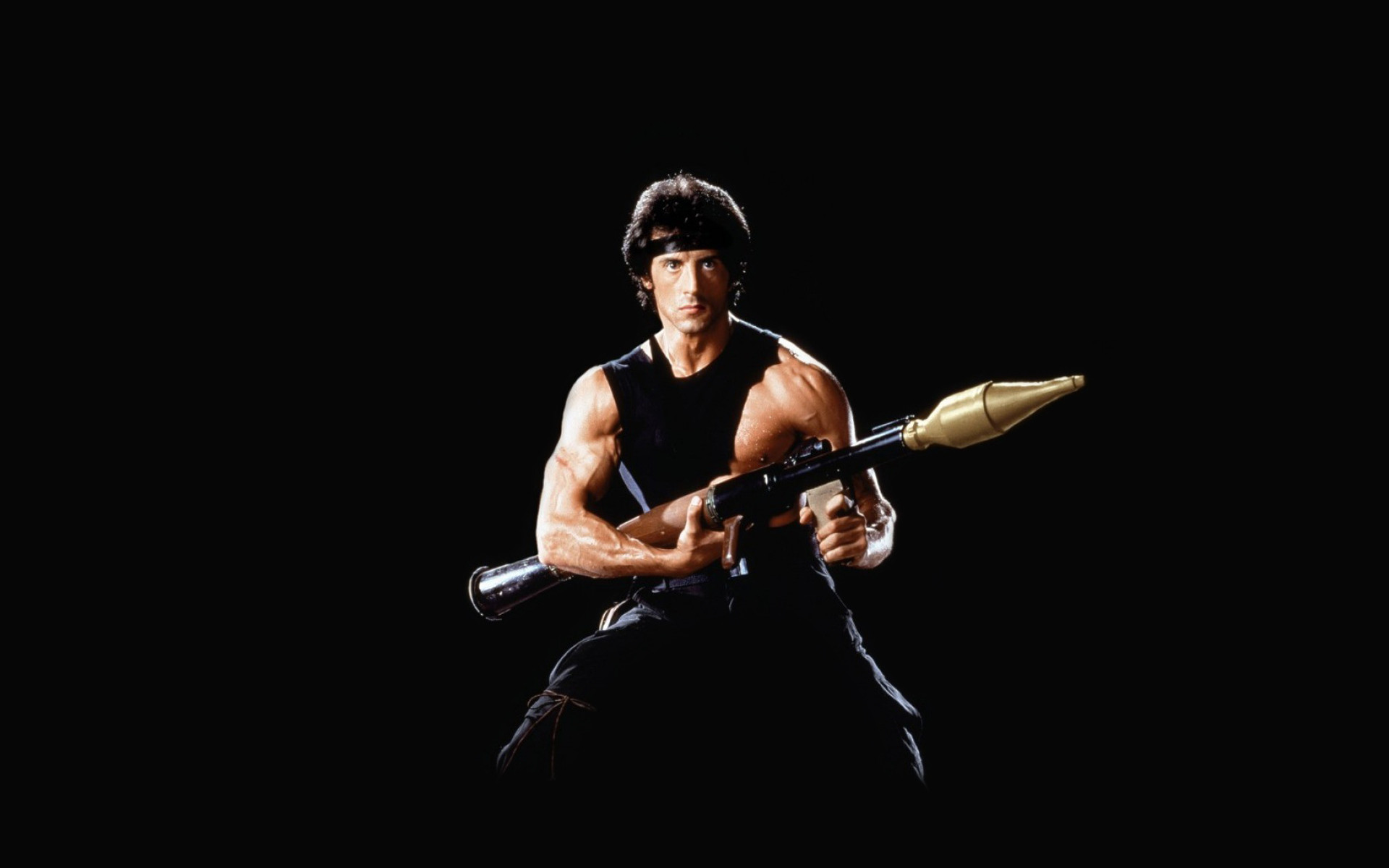 Picture Rambo Sylvester Stallone Grenade launcher Movies