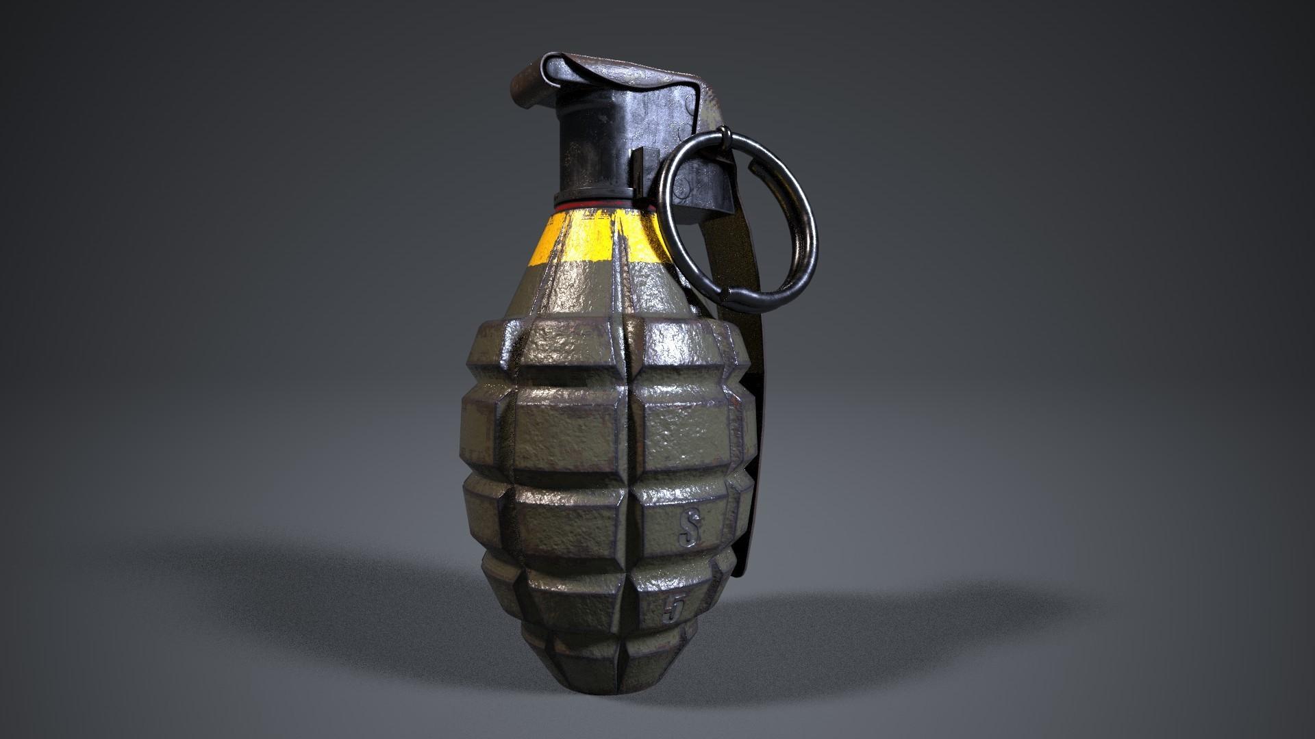 Mk2 grenade (iray render)