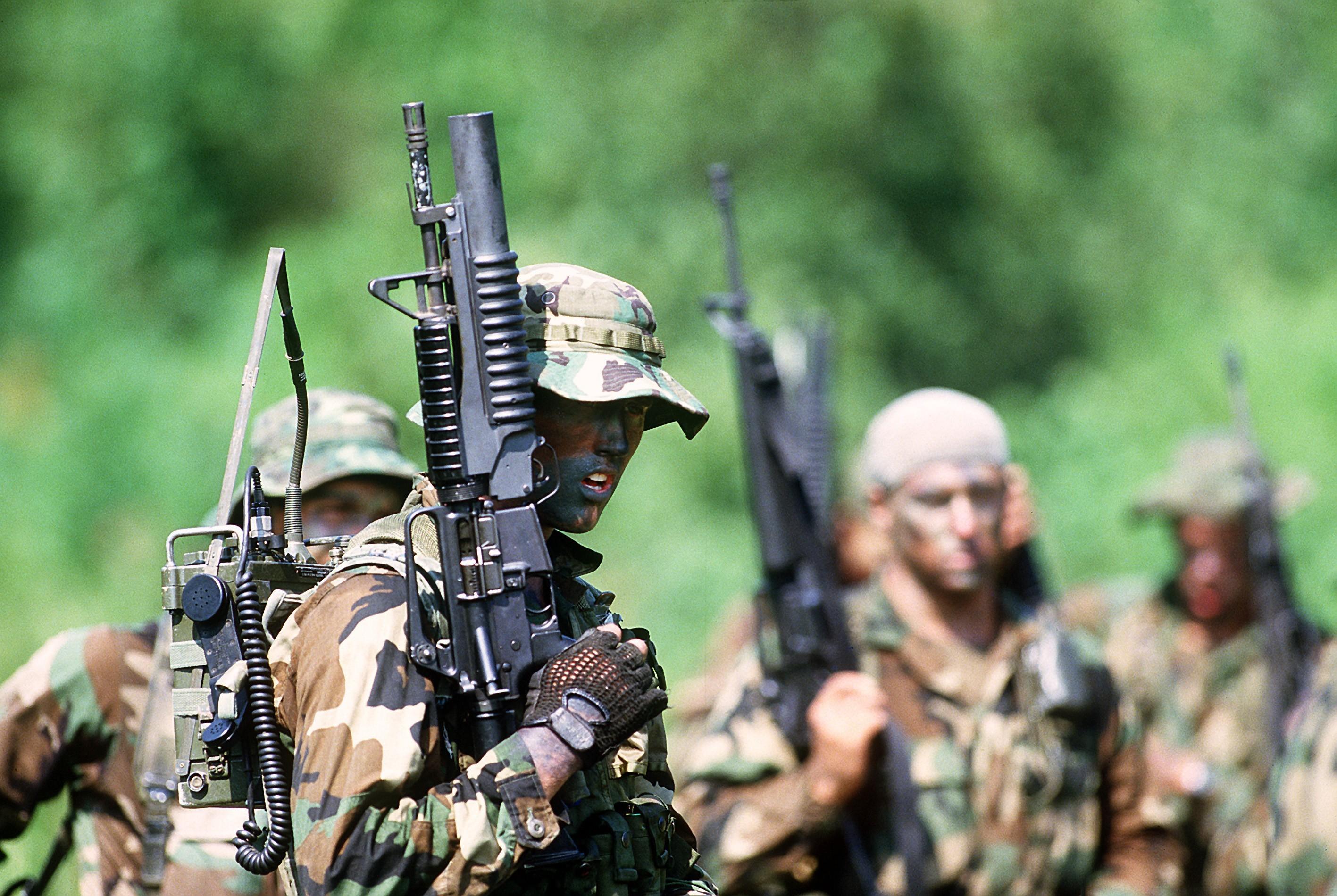 grenade launcher · colt commando