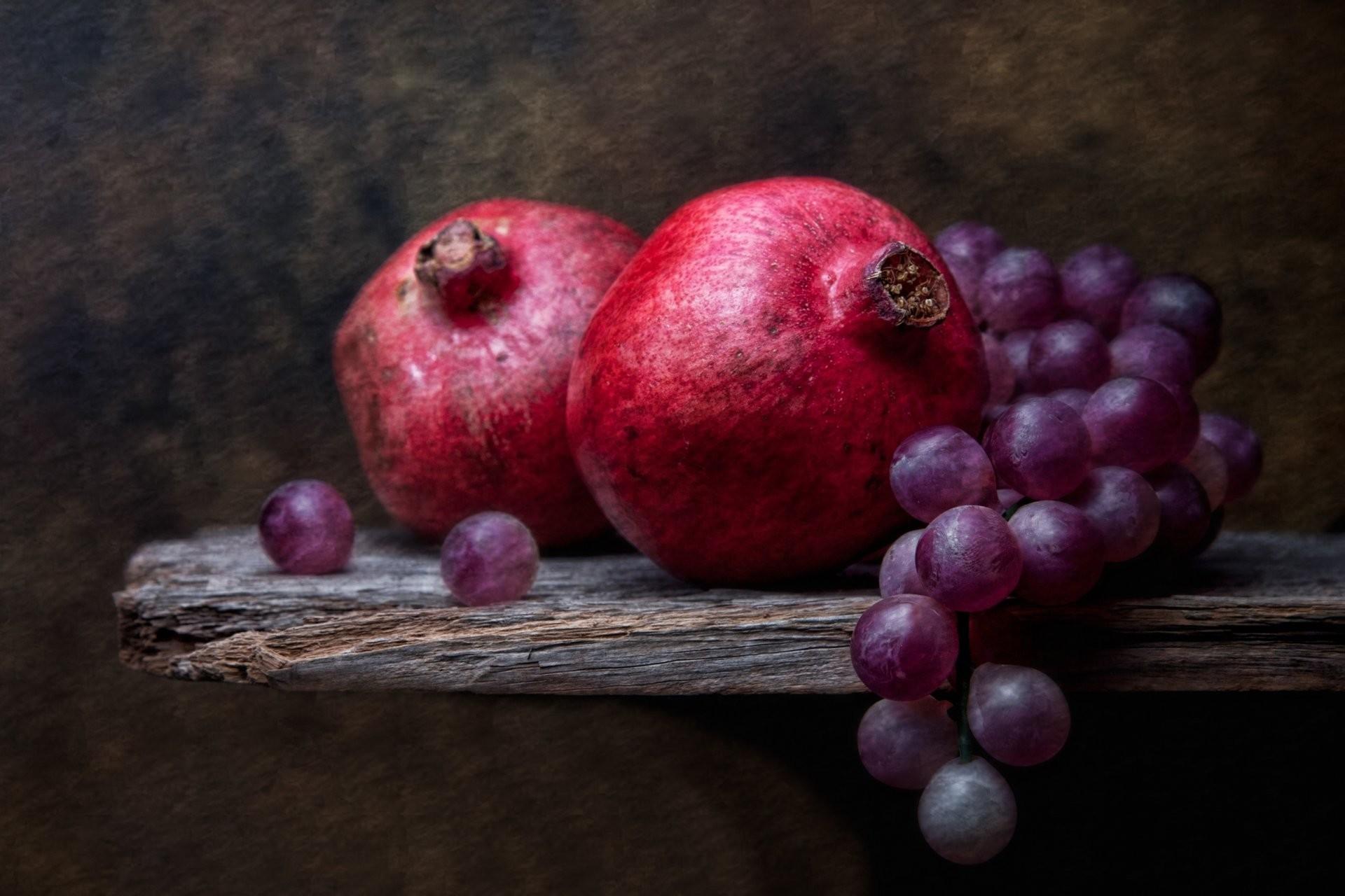 grapes and pomegranates grapes grenade still life