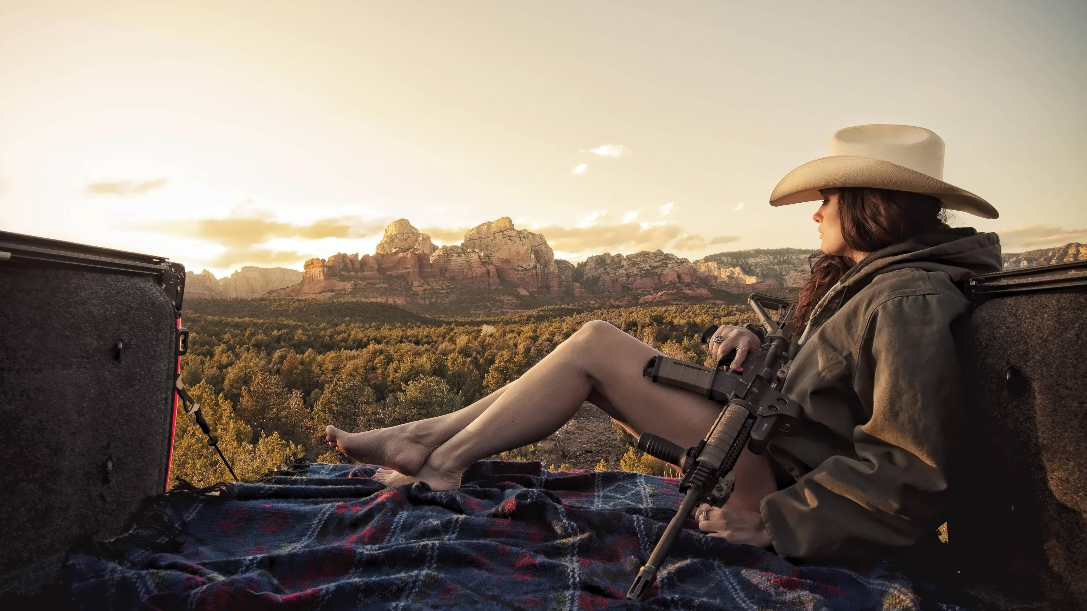 Women Landscapes Weapons Legs Cowboy Hats Feet AR15