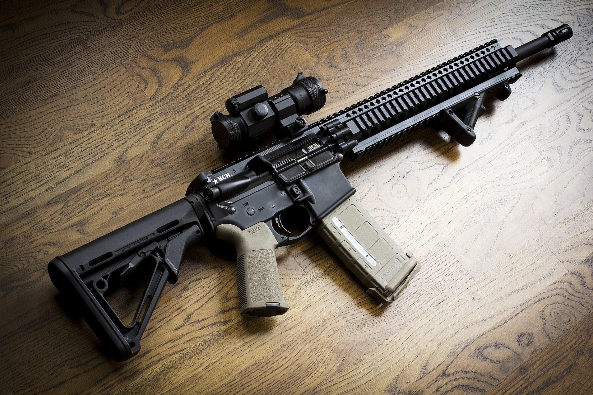 ar-15 bcm assault rifle assault rifle background weapon