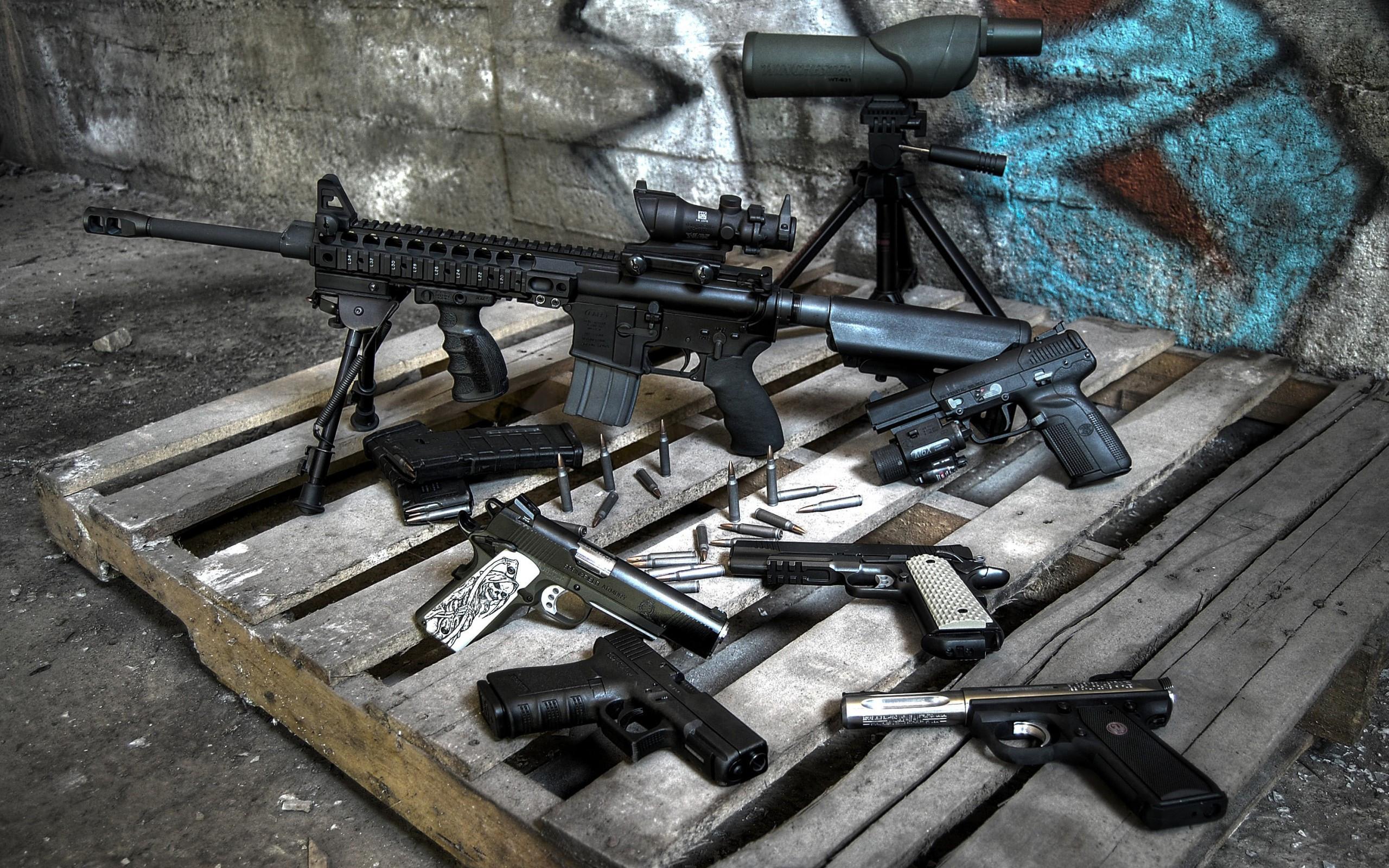 Guns Glock FN Five-Seven AR-15 Beretta 92FS