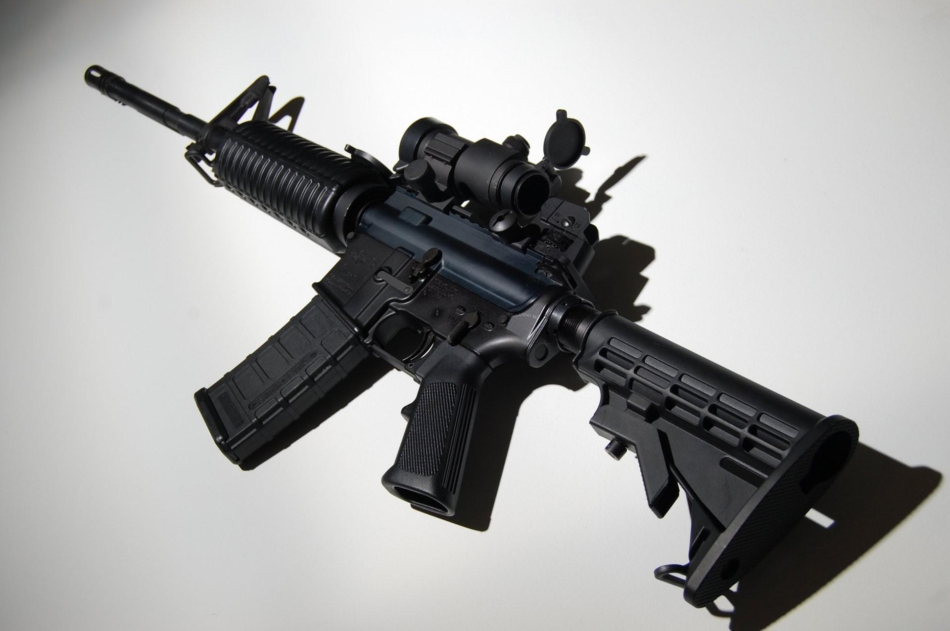 ar-15 assault rifle assault rifle machine weapon background