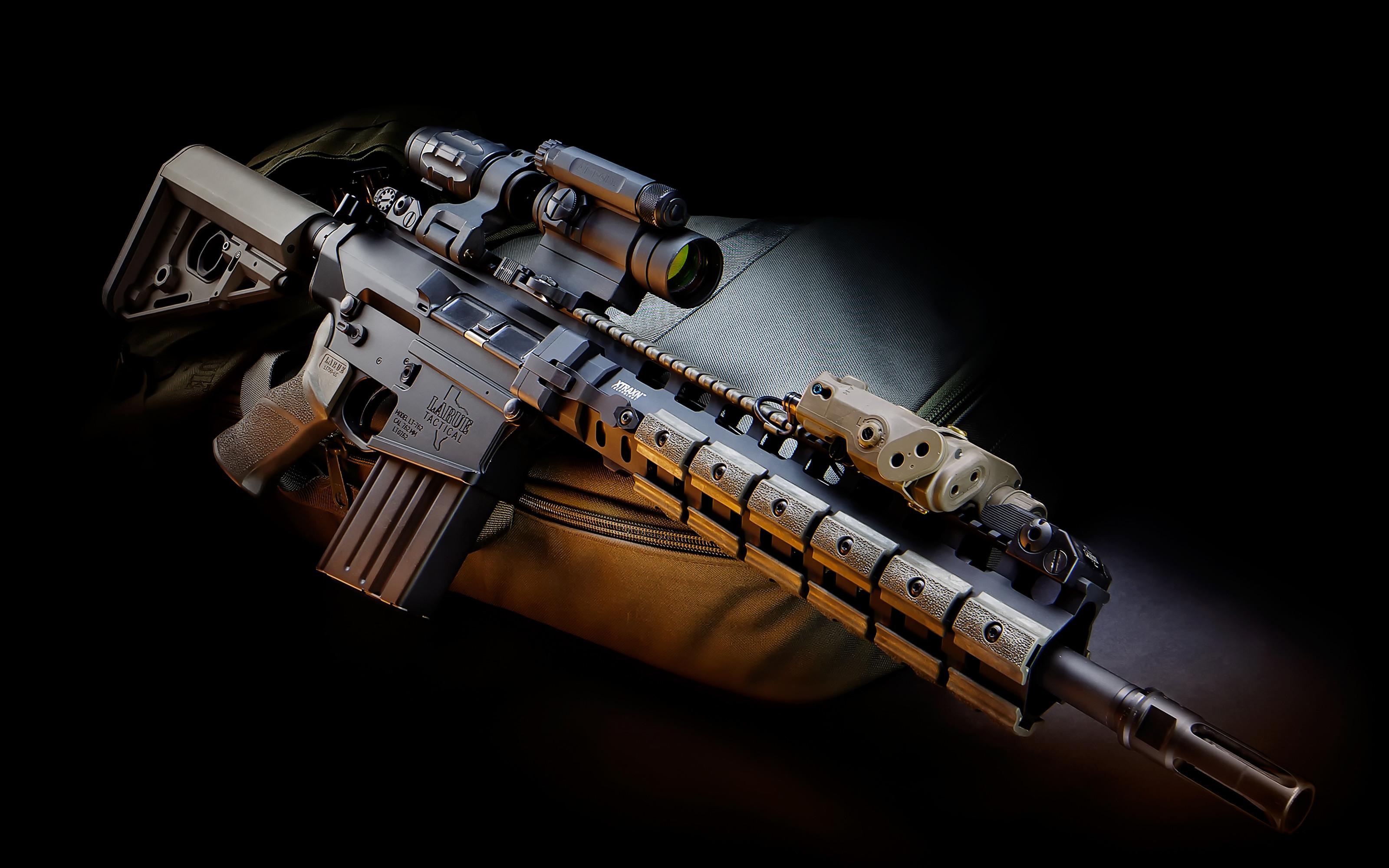 assault rifle wallpaper   Gun scope laser system assault rifle military  wallpaper   .