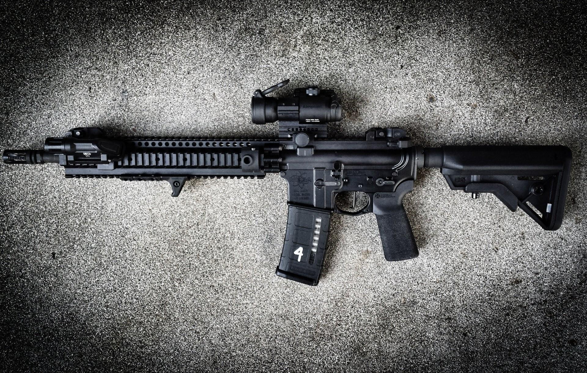 ar-15 assault rifle assault rifle weapon background