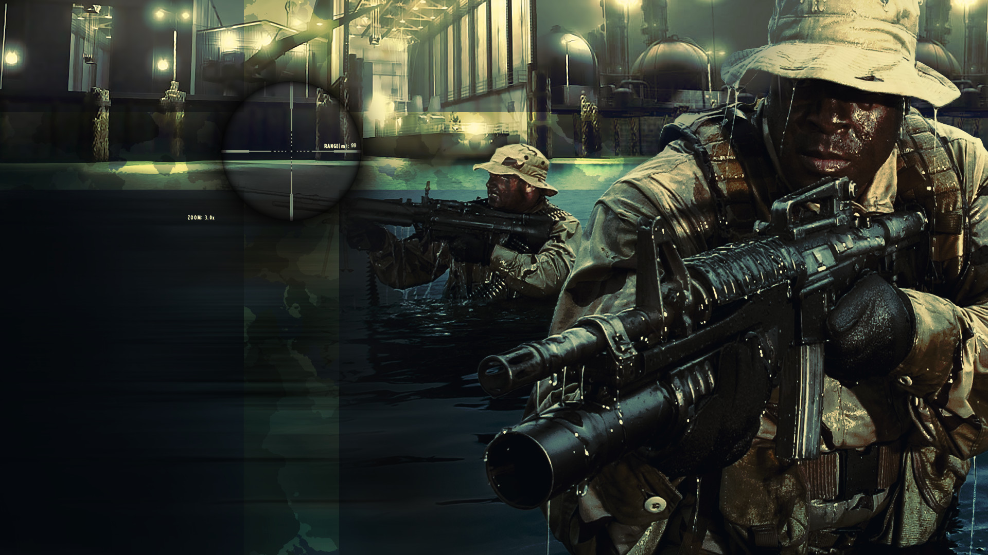 SOCOM 2 Bravo Wallpaper – More Navy SEALs close-ups including in .