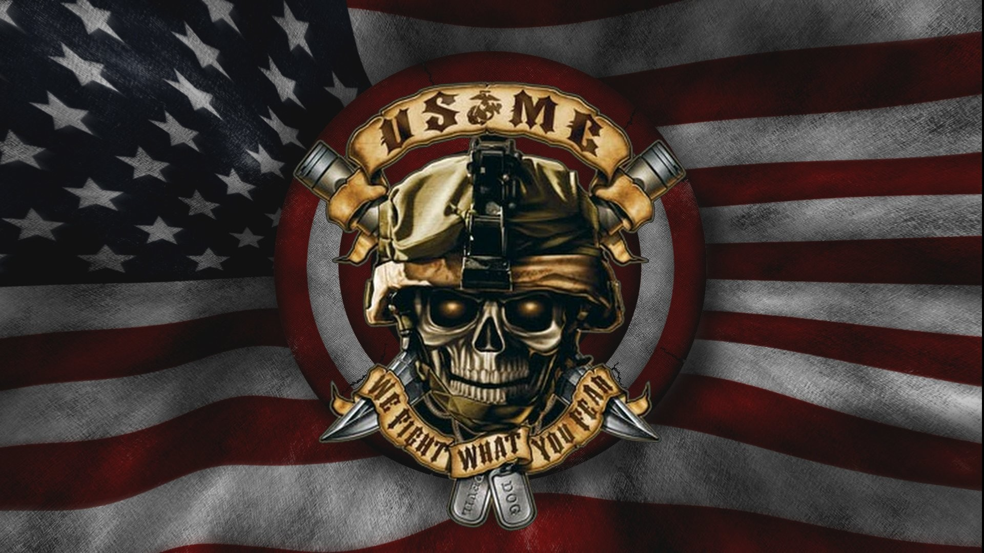 Holiday – 4th Of July Marines Devil Dog American Wallpaper