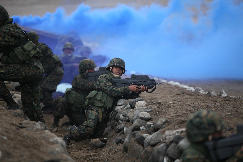 Free Peruvian Marines wallpaper background