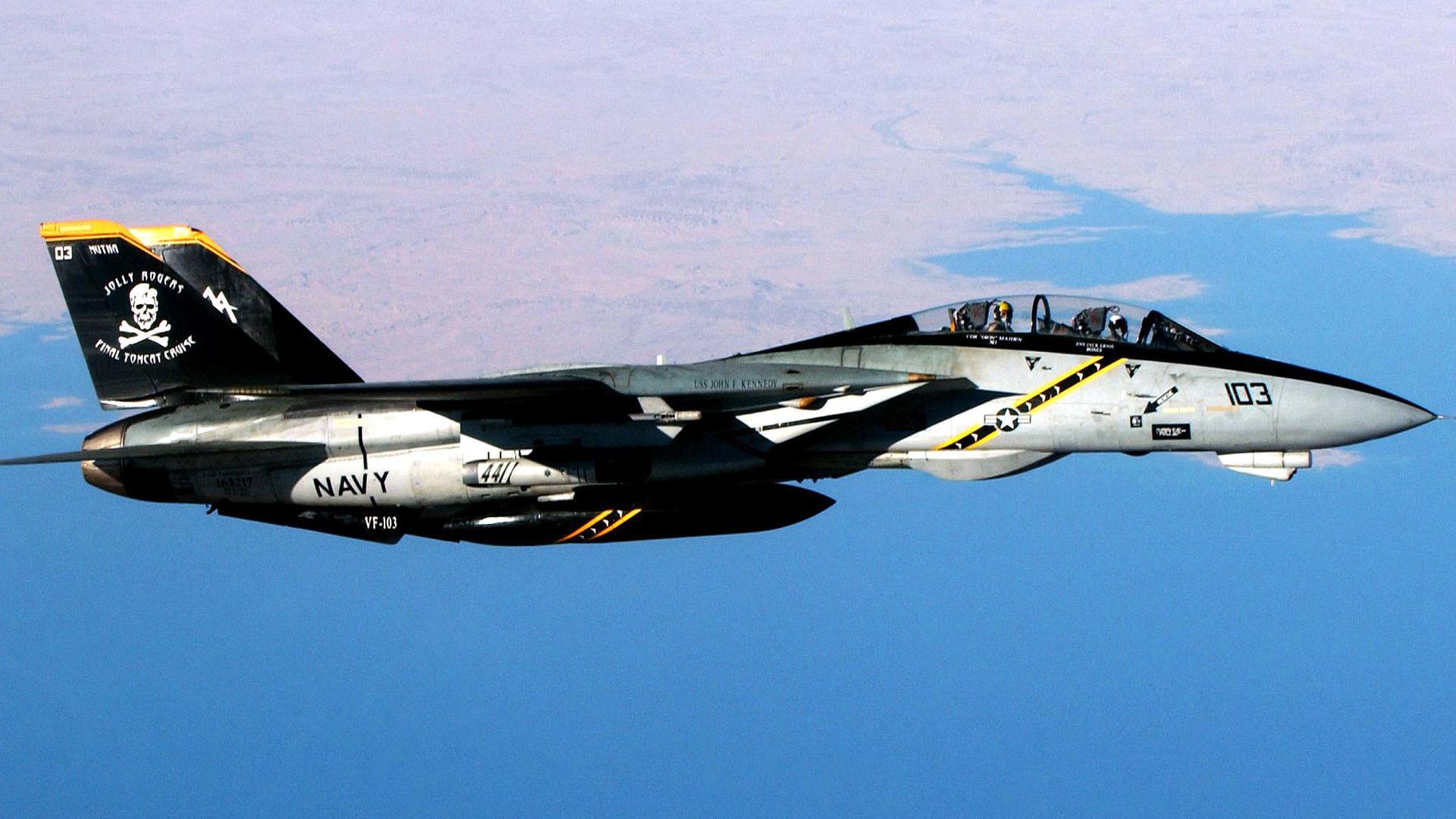 F 14 Tomcat Jolly Rogers Military Aircraft Wallpaper Wallpaper