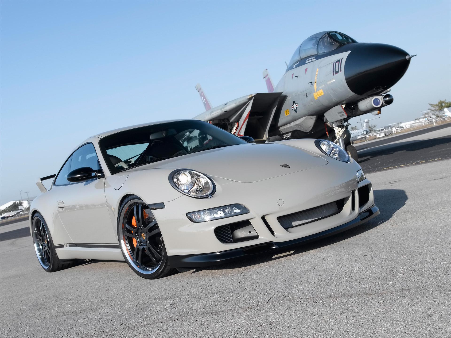 Porsche, aircraft, plane, F-14, tomcat, fighter, Champion Motorsport