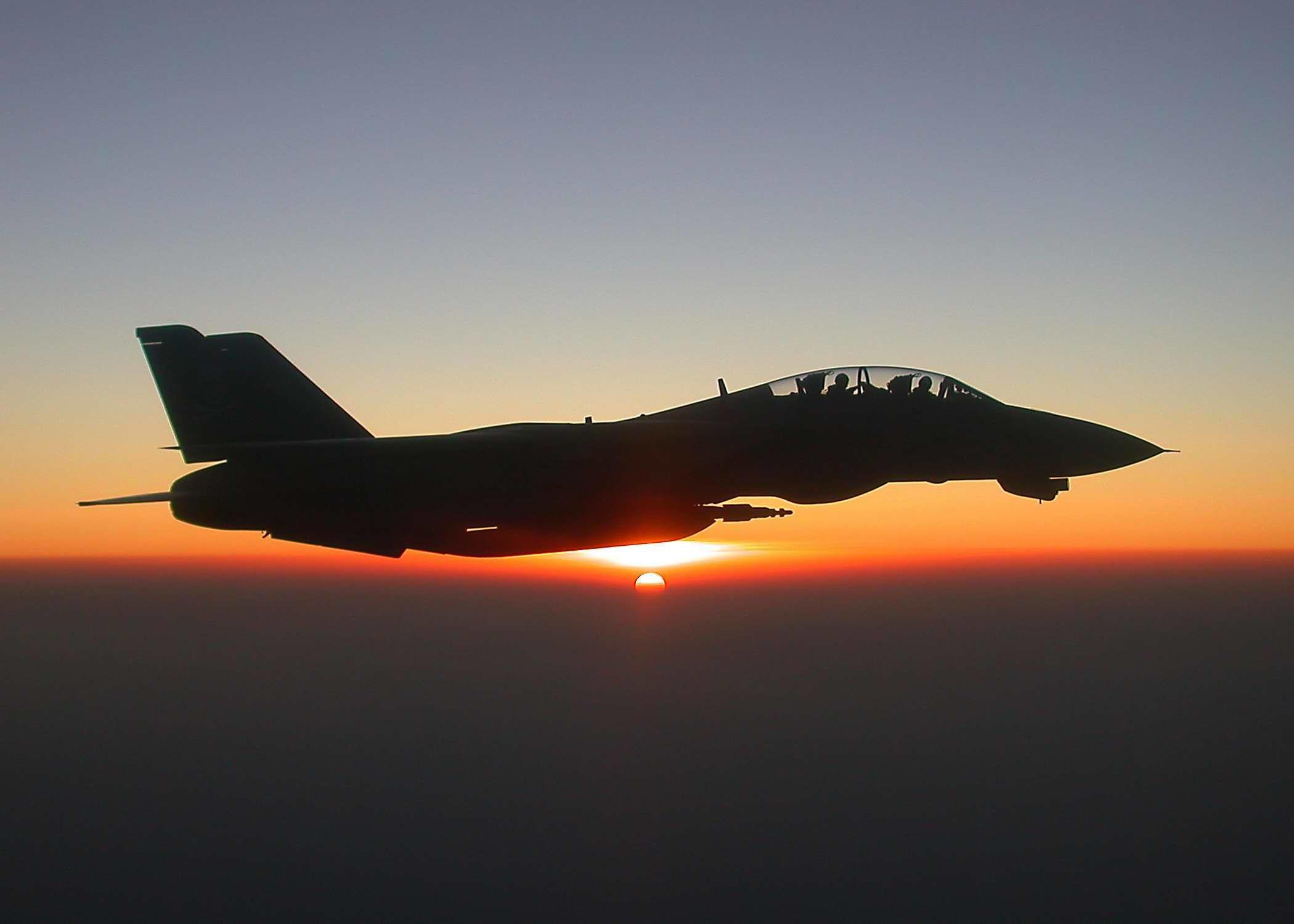 F 14 Tomcat Sunset   Wallpaper Bod