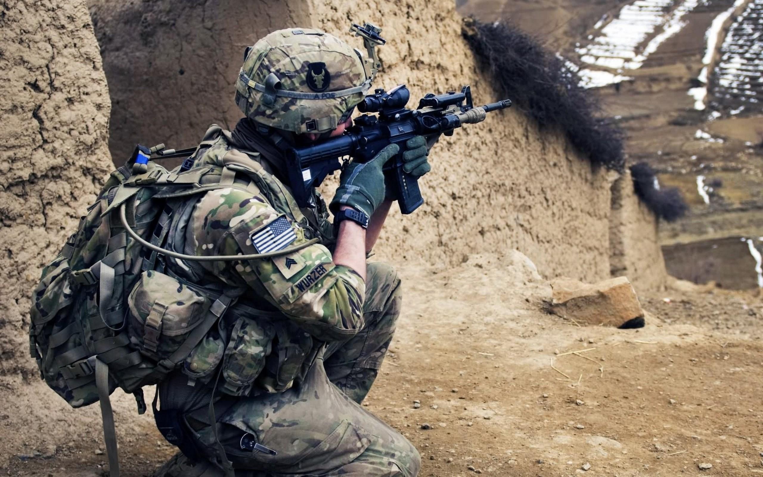 Army Soldier HD Desktop Wallpaper 4858