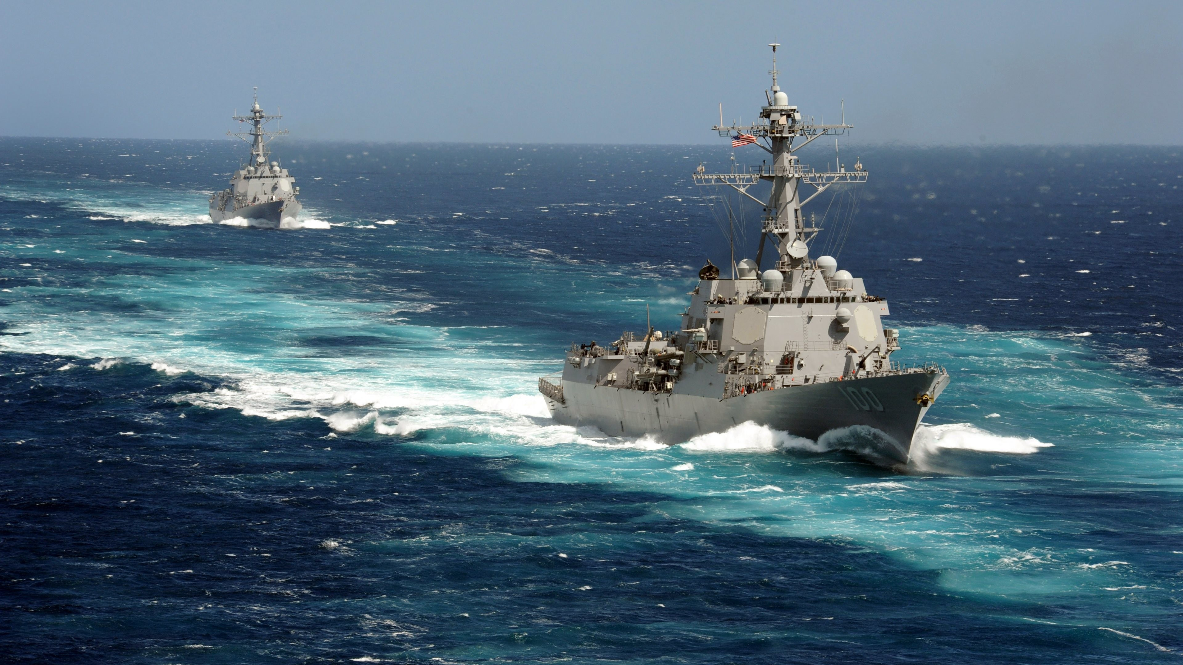 Wallpaper: Naval Ships of the US Army. Ultra HD 4K 3840×2160