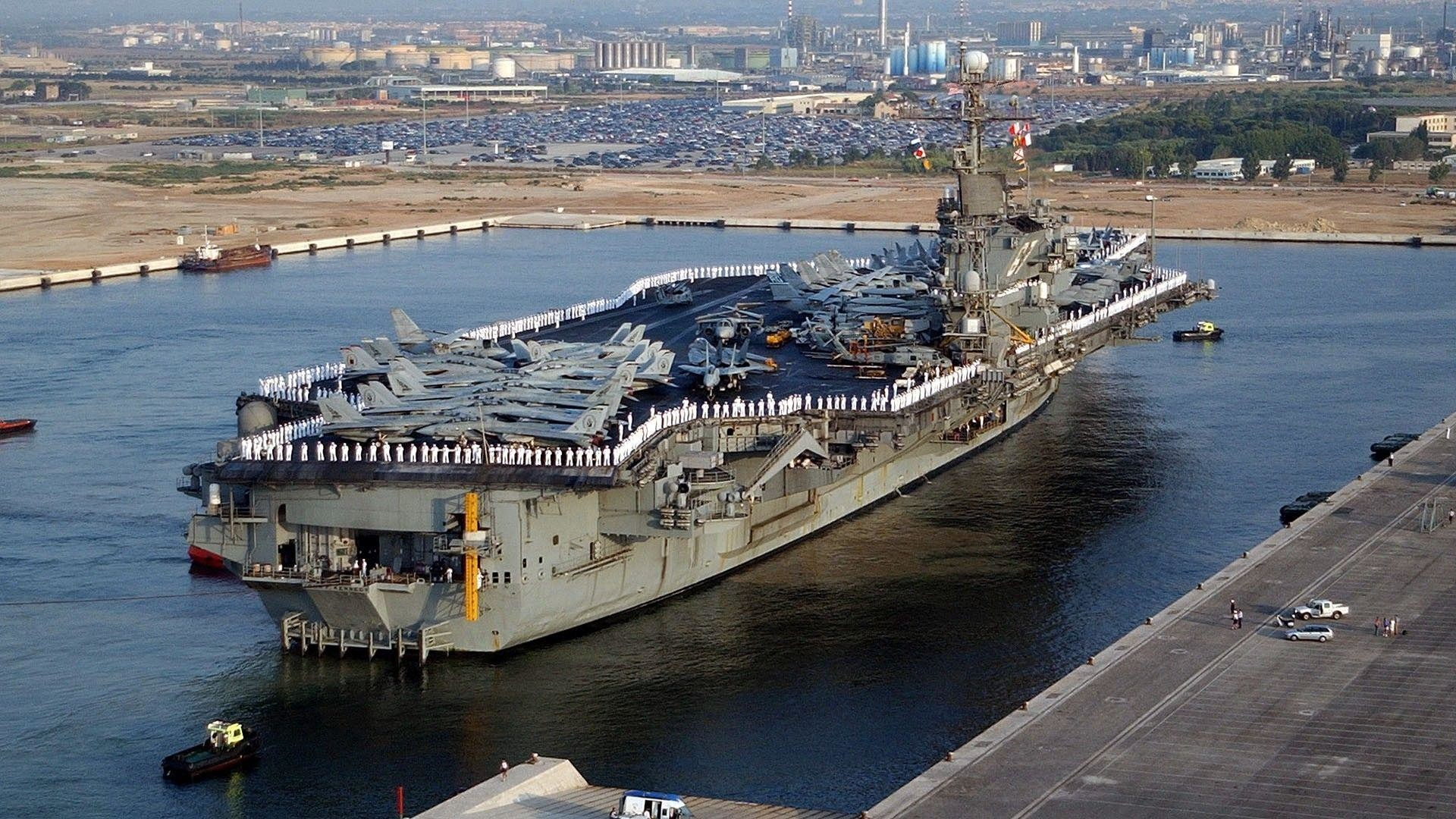Wallpaper of Aircraft carrier in high resolutions – US ships and more