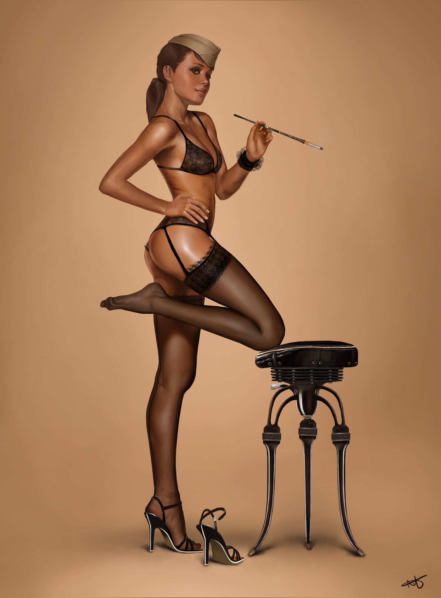 Absolutely Glamorous Digital Pin-up Inspiration   Military pins, Military  and Girls