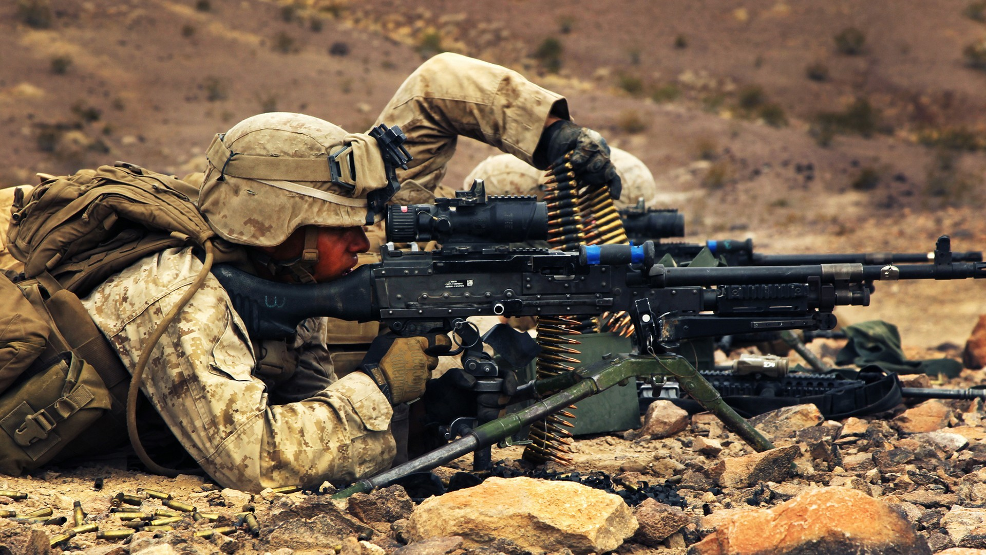 Wallpapers :: M240, tripod, United States Marine Corps