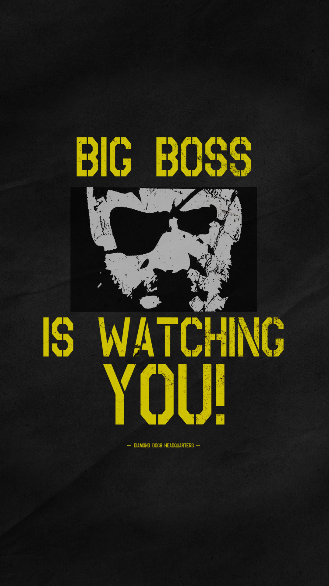 Póster de Big Boss Metal Gear Solid V The Phantom Pain #MGSV #MGSVTPP #