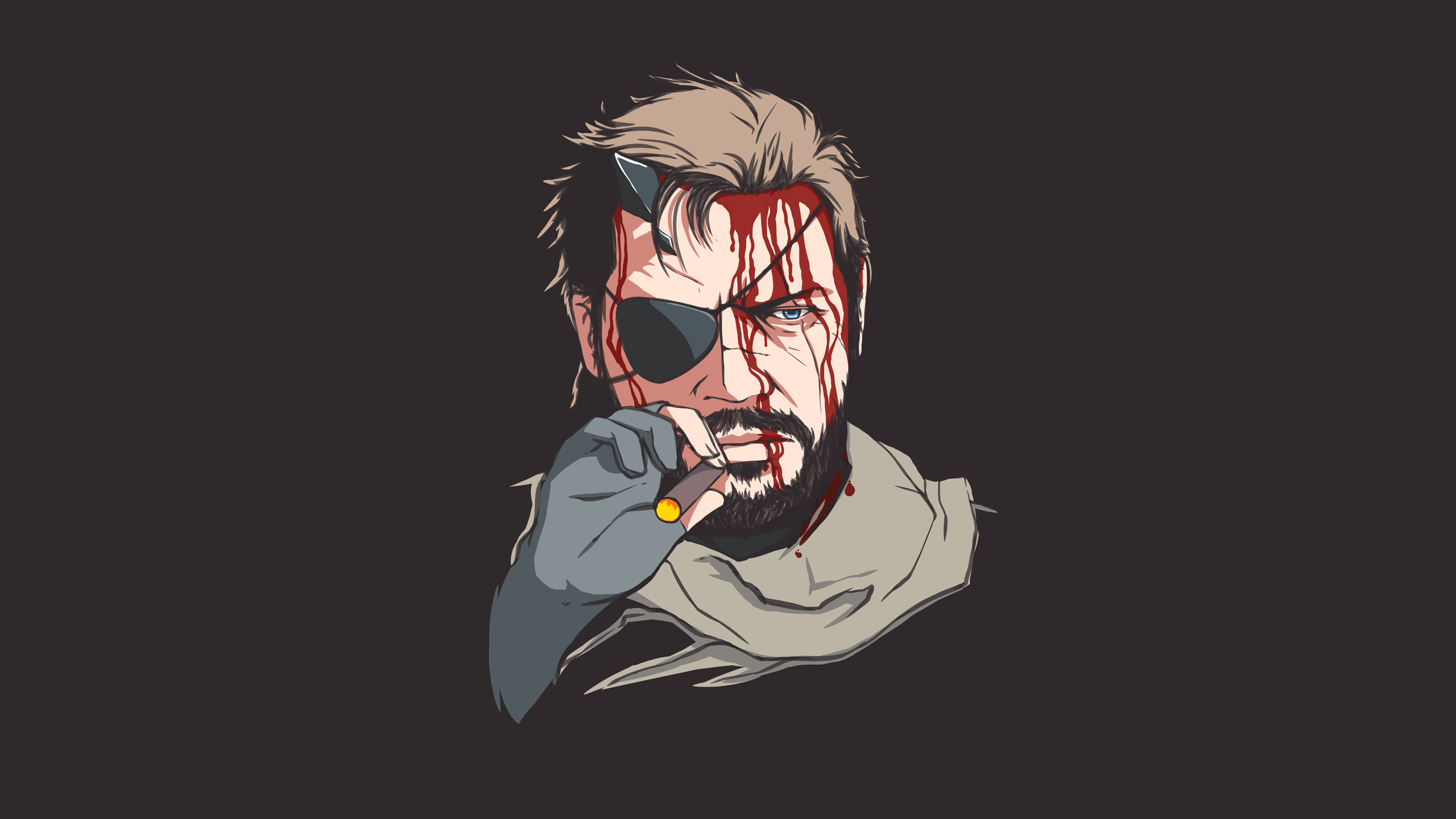 I made a wallpaper of Big Boss because I can hardly contain myself any  longer.