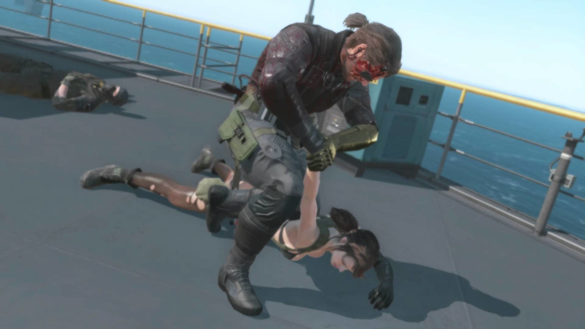 Metal Gear Solid V The Phantom Pain Quiet attacks Diamond Dog soldier