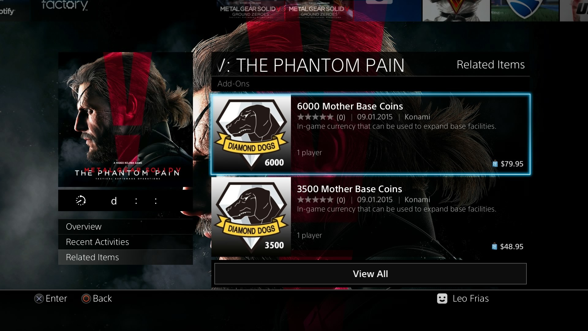 Metal Gear Solid V: The Phantom Pain's Microtransactions Explained  [Updated] – Xbox One, Xbox 360 News At XboxAchievements.com