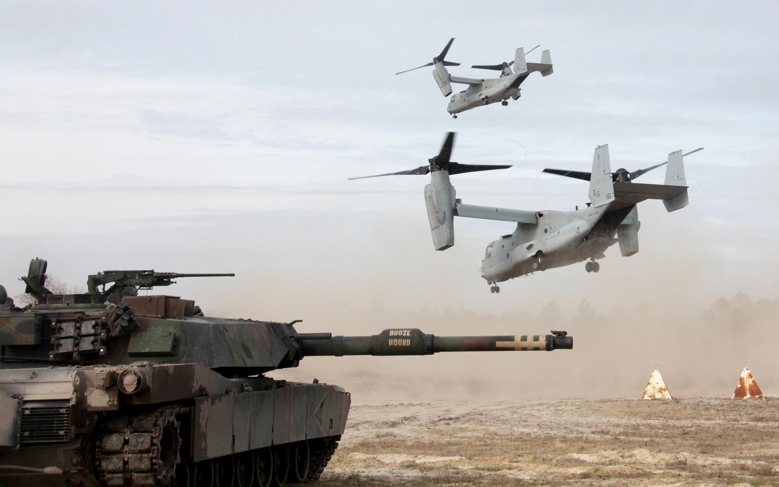Aircraft M1A1 Abrams Tank Military Tanks United States Marine Corps V-22  Osprey