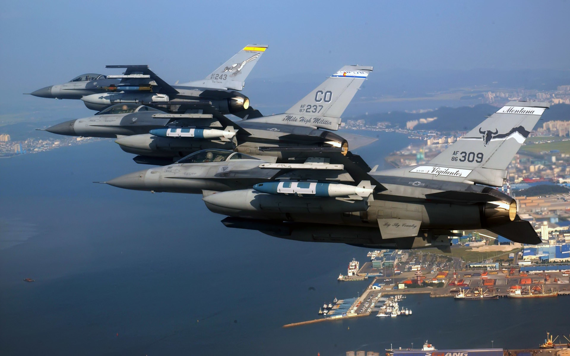 F 16 Fighter | Air National Guard F 16 Fighting Falcons Wallpapers | HD  Wallpapers