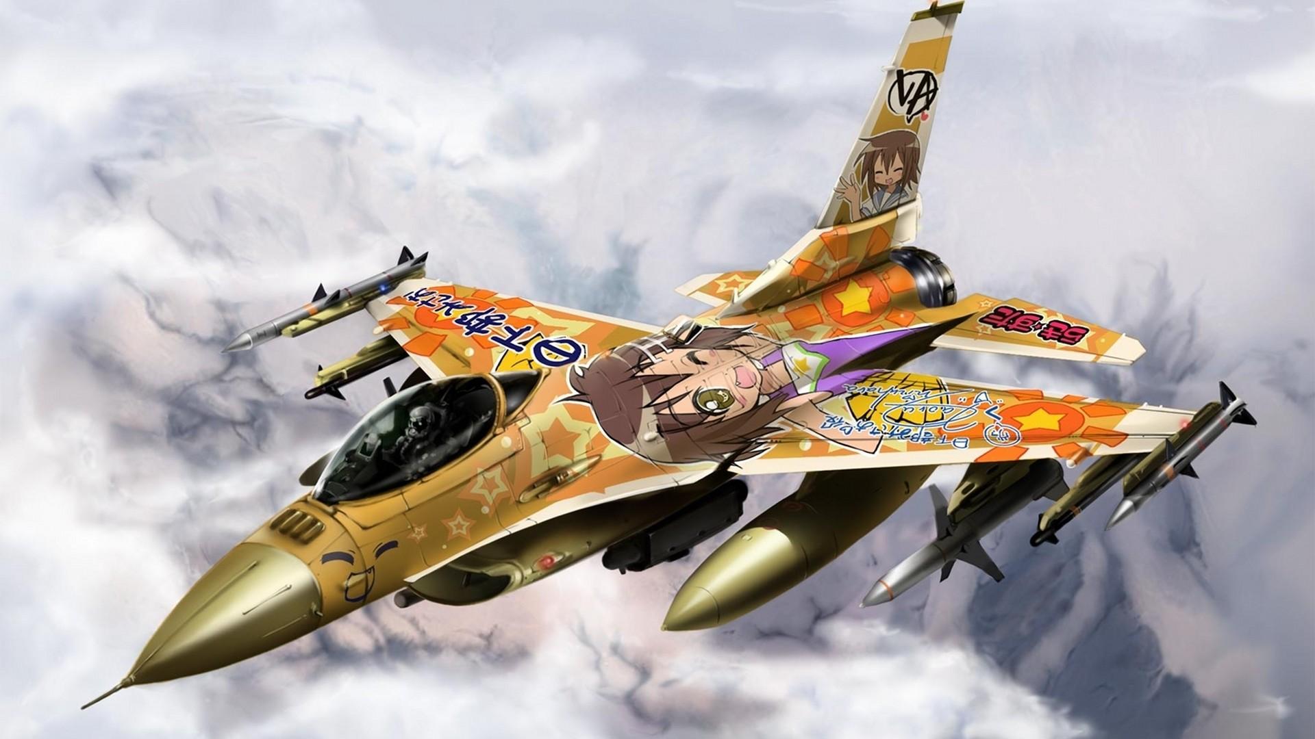 Colorful F-16 Falcon – 1080p HD Wallpaper for Desktop