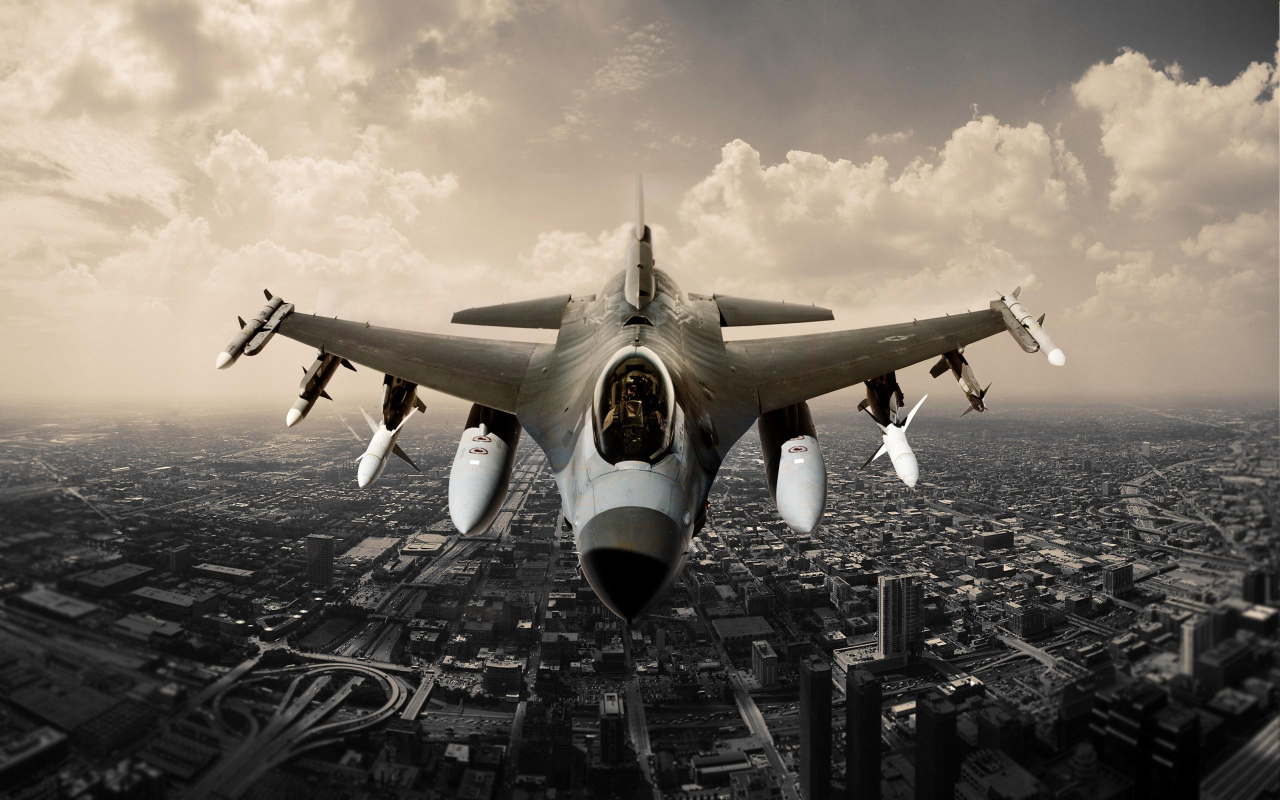 Aircraft Air Superiority F 16 F-16 Fighting Falcon Fighter Fighters Military