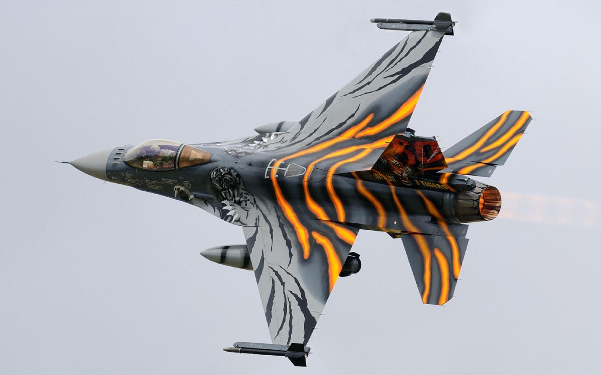 Militar General Dynamics F-16 Fighting Falcon Papel de Parede