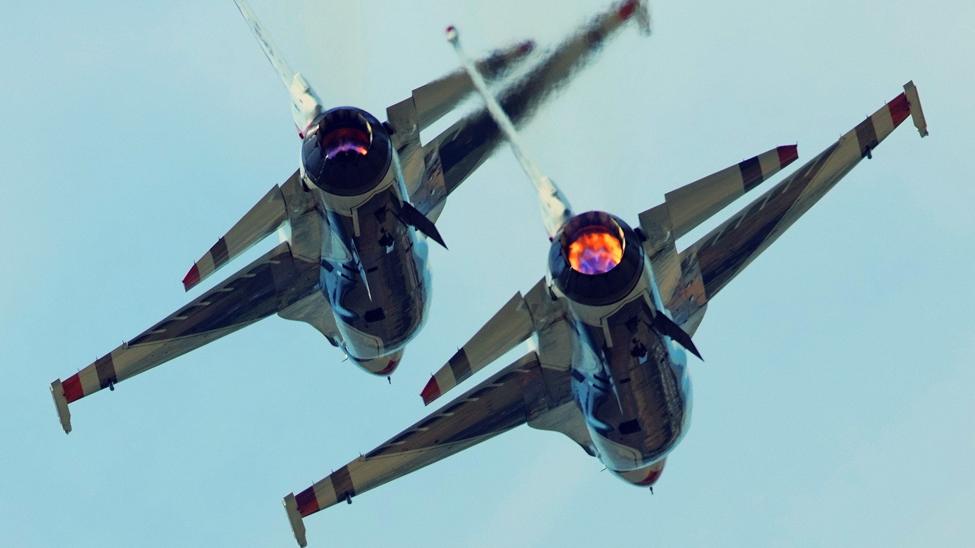 Afterburner Aircraft F-16 Fighting Falcon Fighter Jets Thunderbirds Squadron