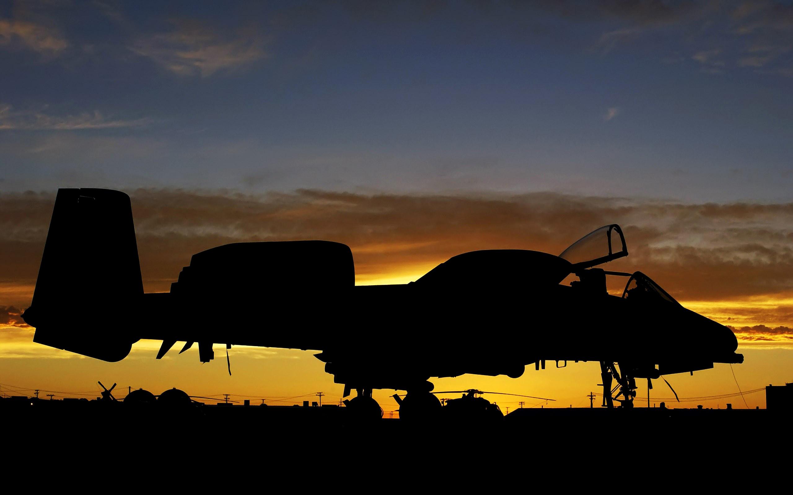 A-10 Thunderbolt II Aircraft Military Sunrise United States Air Force …