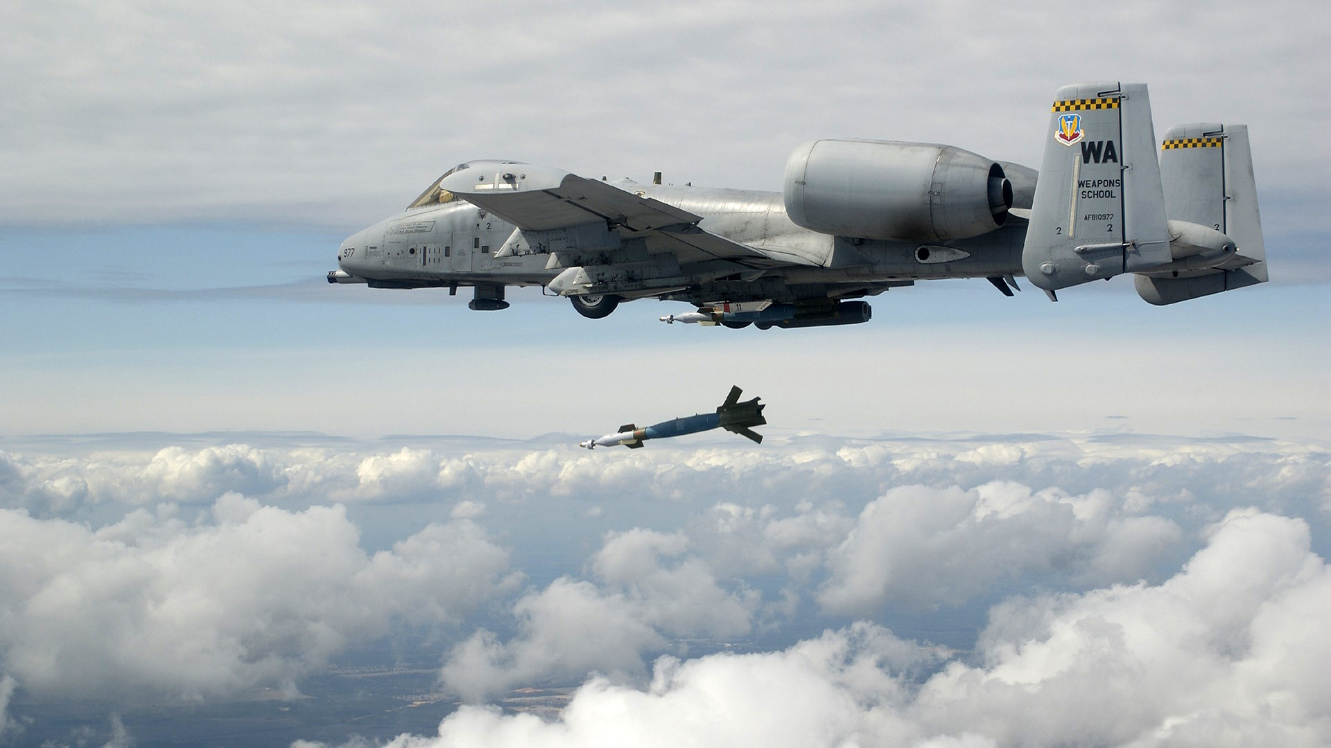 A10 Warthog Aircraft Bomb Planes Sky