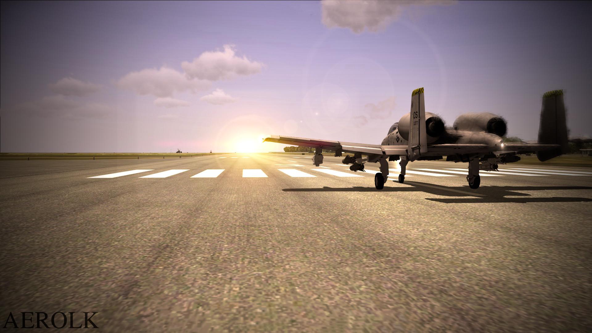 … DCS A-10 Warthog Sunset by aerolk