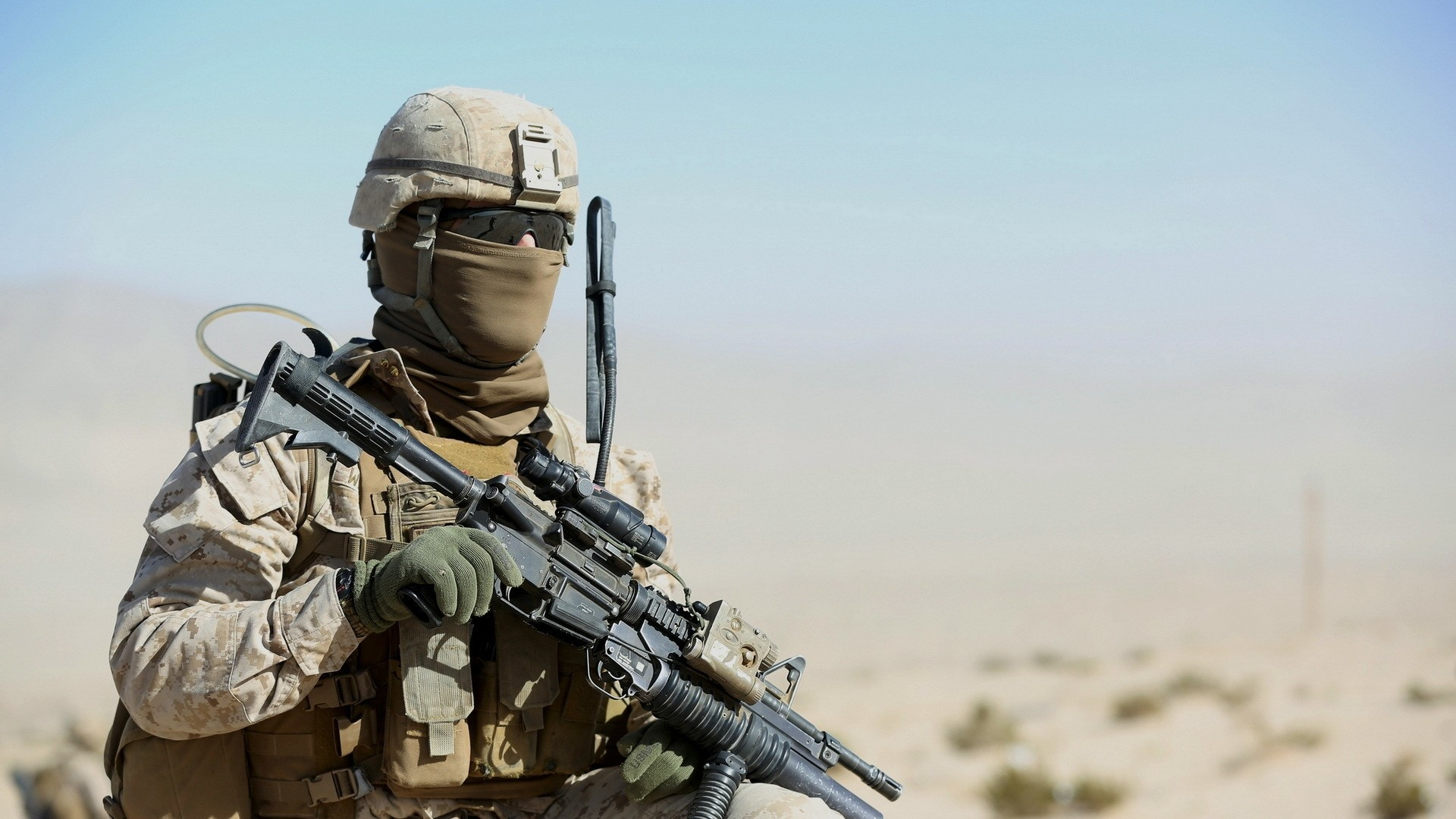 Preview wallpaper united states marine corps, military, weapons 1920×1080