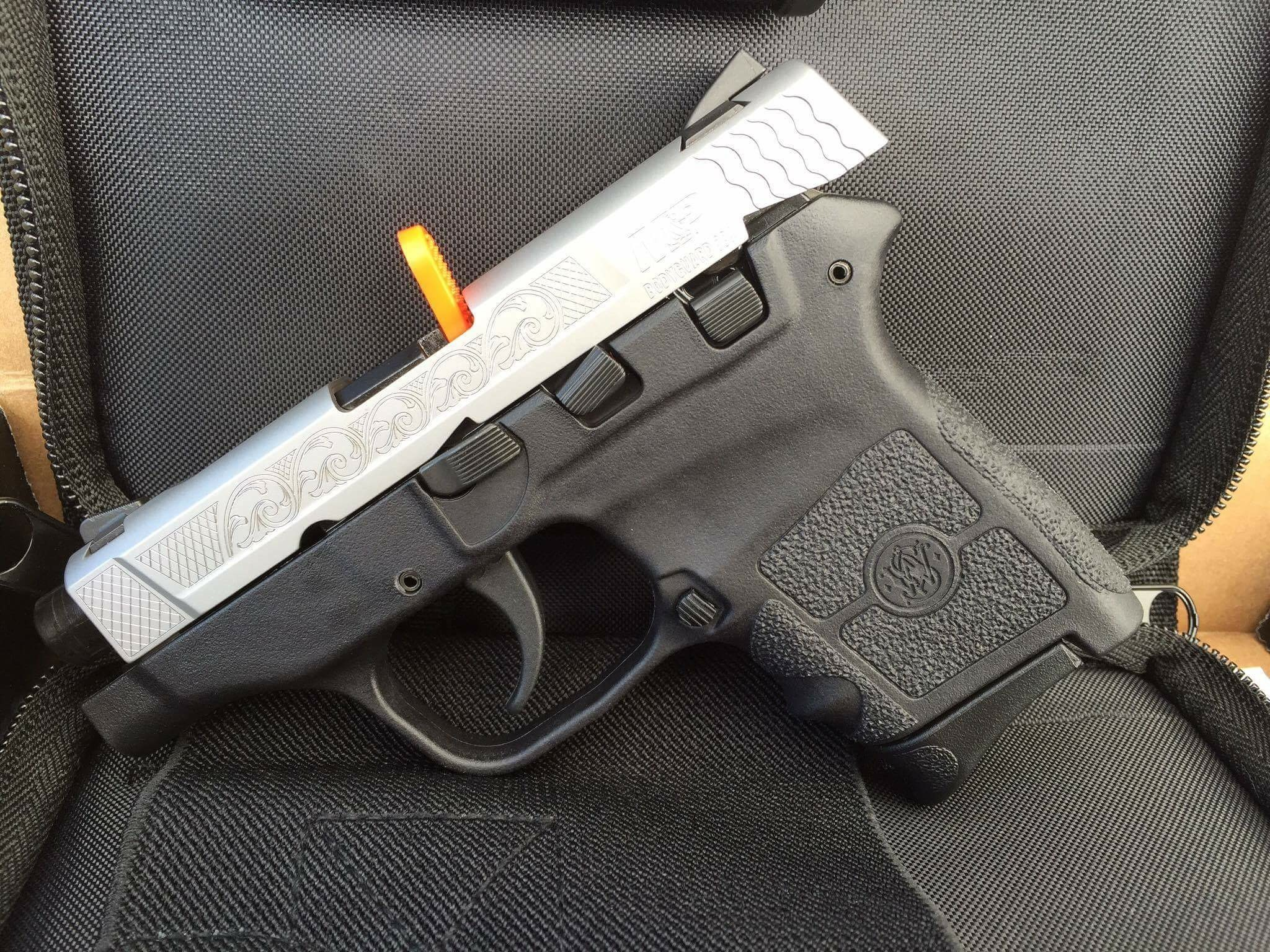 Engraved Smith and Wesson M&P Bodyguard 380